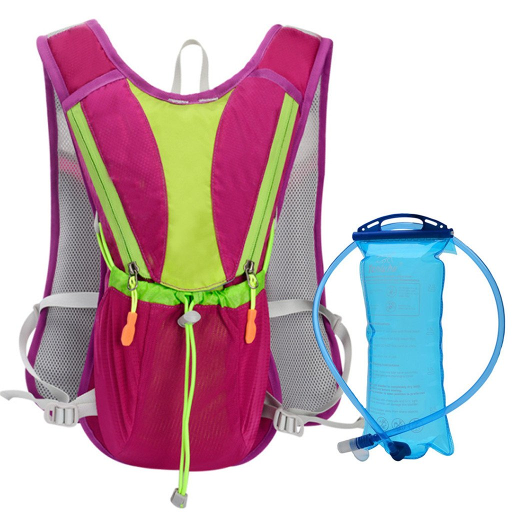 Pink 10L Marathon Hydration Bag With 2L Water Bag Outdoor Running Bags Hiking Backpack Vest Cycling Bike Bicycle Backpack Camelbak