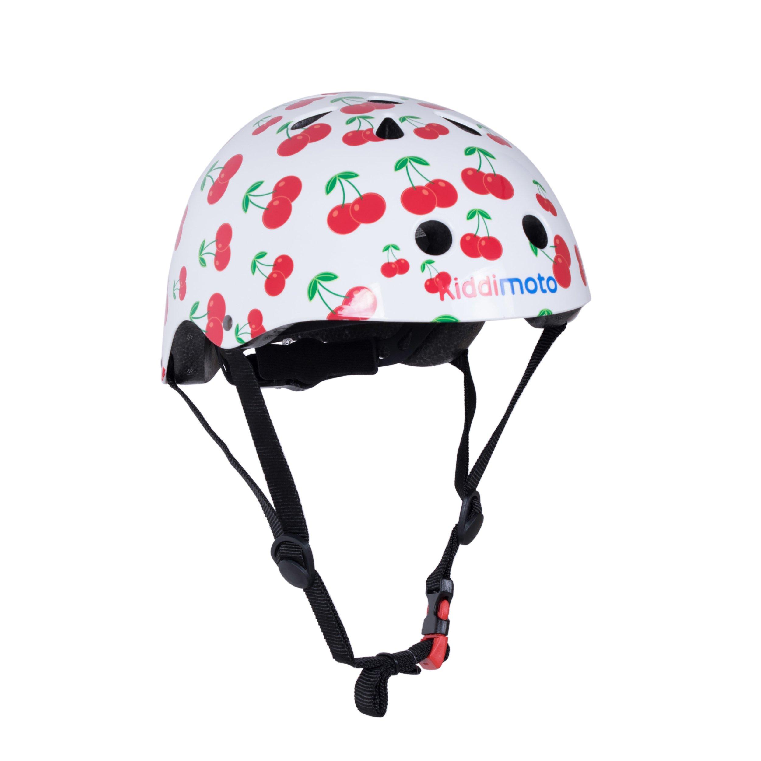 Kiddimoto Kids Patterned Helmet (Cherry, Medium)