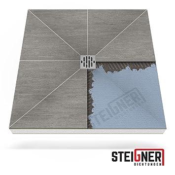 Bodengleiche duschwanne 90x120  Duschelement MINERAL PLUS Duschboard befliesbar 90x120 cm Ablauf ...
