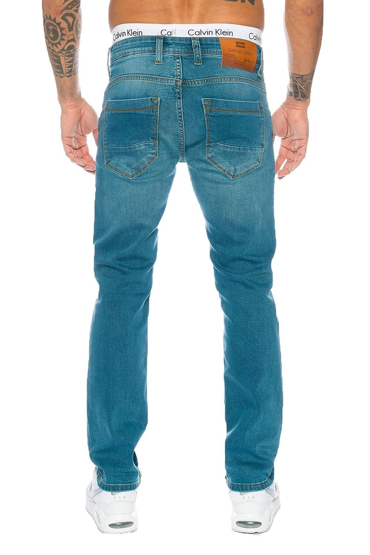 Rock Creek Herren Jeanshose Blau Herren Jeans Used-Look Straight-Cut LL-315 NEU