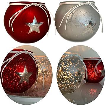 2x Teelichtglas Glaswürfel Teelichthalter Teelichtgläser Teelicht Weihnachten
