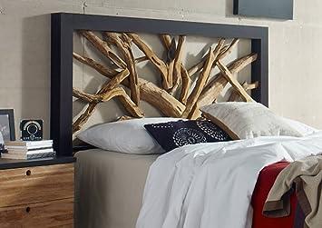 Kopfteil Wurzelholz Bett 180x200 Schlafzimmer Holz Mobel Ehebett