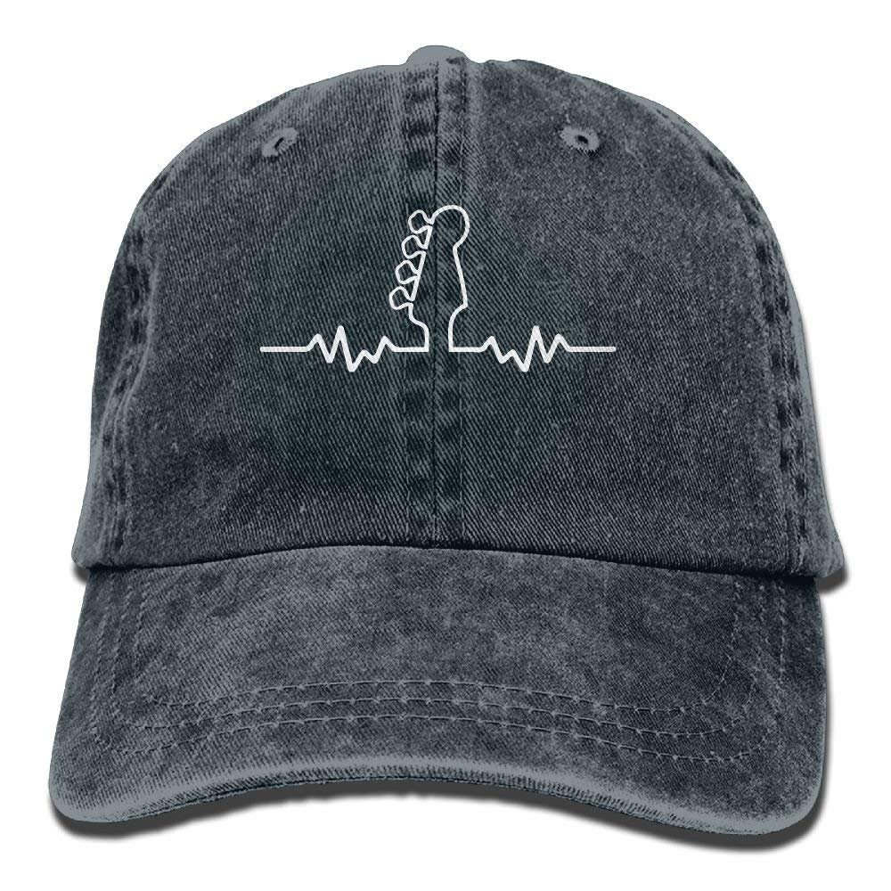 JTRVW Cowboy Hats Baseball Cap Bass Guitar Heartbeat 1 Men Snapback Casquettes Adjustable Baseball Cap