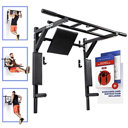 Expander & Widerstandsbänder New Multi Function Pull Up Dip Station for Indoor Home Gym Strength Training