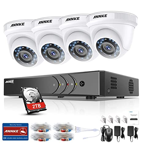 ANNKE Kit de Seguridad 3MP H.265+ DVR 8+2 Canal y 4 Cámaras ...