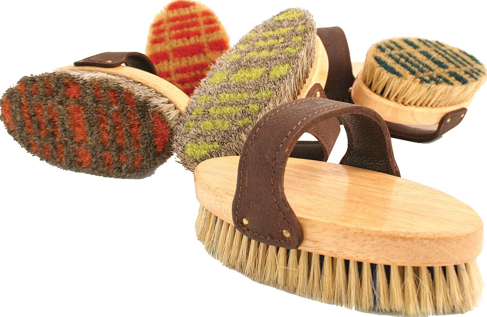 Legends Horsehair Body Brush for Horse, Color: Assorted Plaid , Count: 12