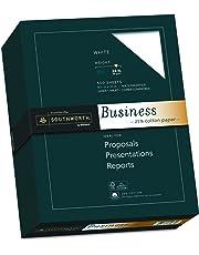 "Southworth 25% Cotton Business Paper, 8.5"" x 11"", 24 lb, Wove Finish, White, 500 Sheets (404C)"