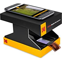 KODAK Mobile Film Scanner – Scan & Save Old 35mm Films & Slides w/ Your Smartphone Camera – Portable, Collapsible Scanner w/ Built-In LED Light & FREE Mobile App for Scanning, Editing & Sharing Photos