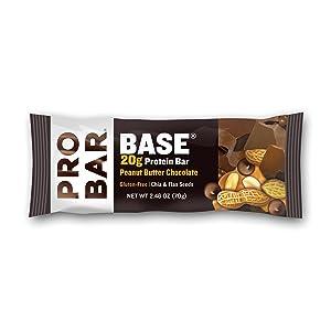 PROBAR BASE Protein Bar, Peanut Butter Chocolate, 2.46 Ounce