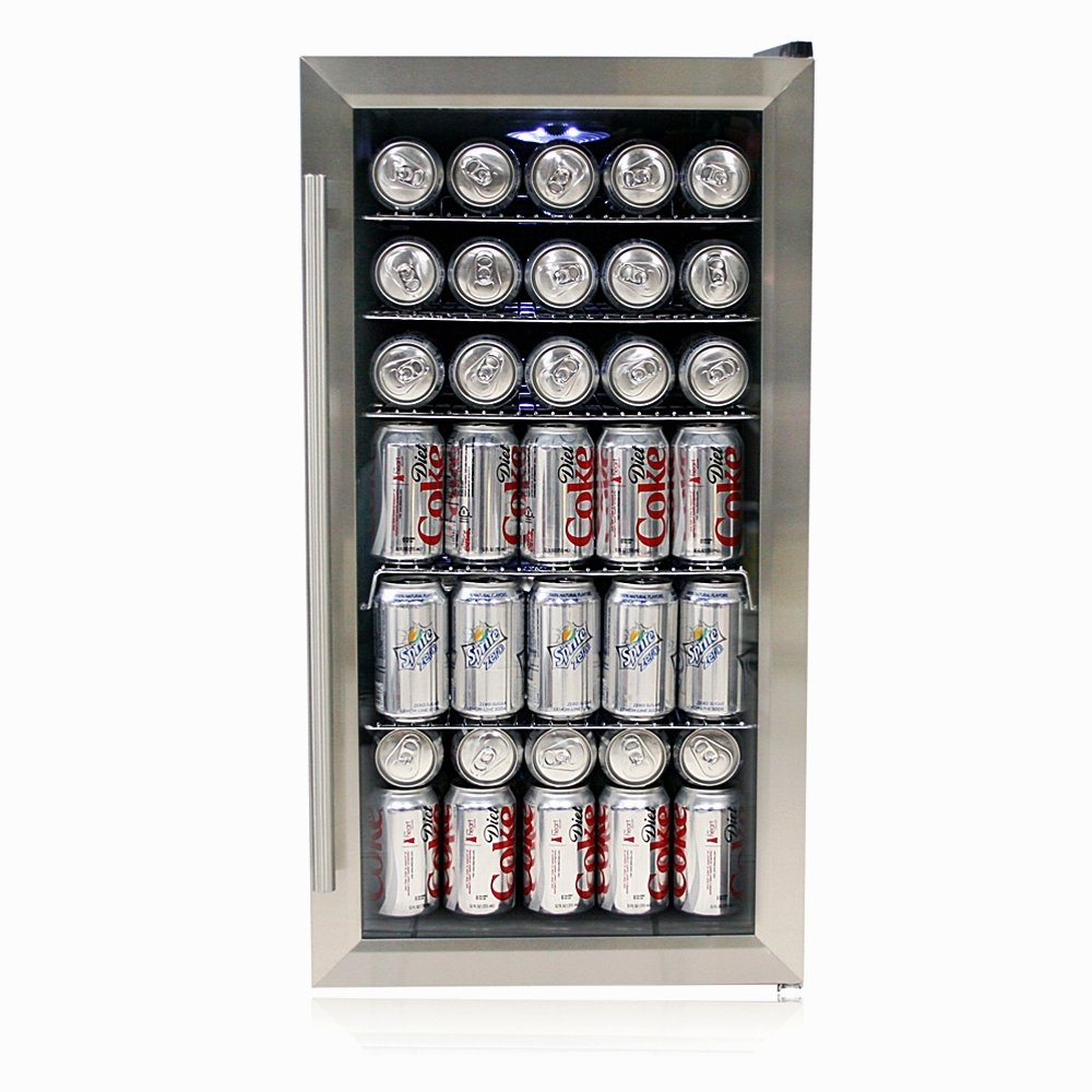amazoncom whynter br125sd beverage stainless steel appliances - Mini Fridge Glass Door