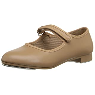 Dance Class Maryjane Tap Shoe, 10 M US Toddler, caramel