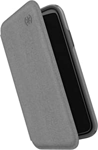Speck Presidio Folio iPhone 11 Pro Max Case, Heathered Chelsea Grey/Chelsea Grey/Graphite Grey