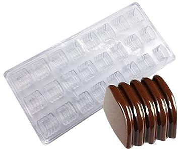 Molde para hacer dulces, policarbonato transparente, molde para chocolate, gelatina para hacer dulces, bandeja de 21 piezas Cylinder: Amazon.es: Hogar