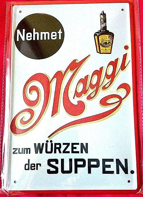 Tin Sign Cartel de Chapa 20 x 30 cm Maggi würze Sopa Cocinar ...