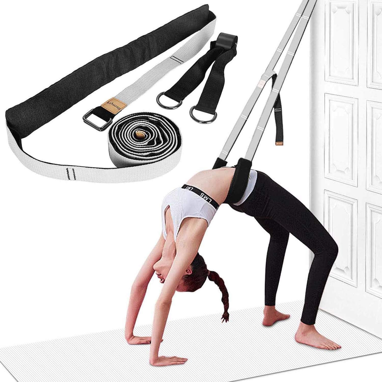 Yoga Stretching Strap, Leg Stretcher Backbend Assist Trainer Pilates Equipment for Home Workouts Back Waist Leg Flexibility Trainer Strap for Pilates Ballet Dance Splits Gymnastics