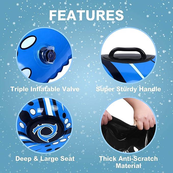 Amazon.com: Snow Tube - Air Tube 39 Inch Inflatable Snow ...
