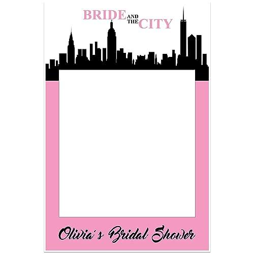 bride and the city bridal shower selfie frame prop poster