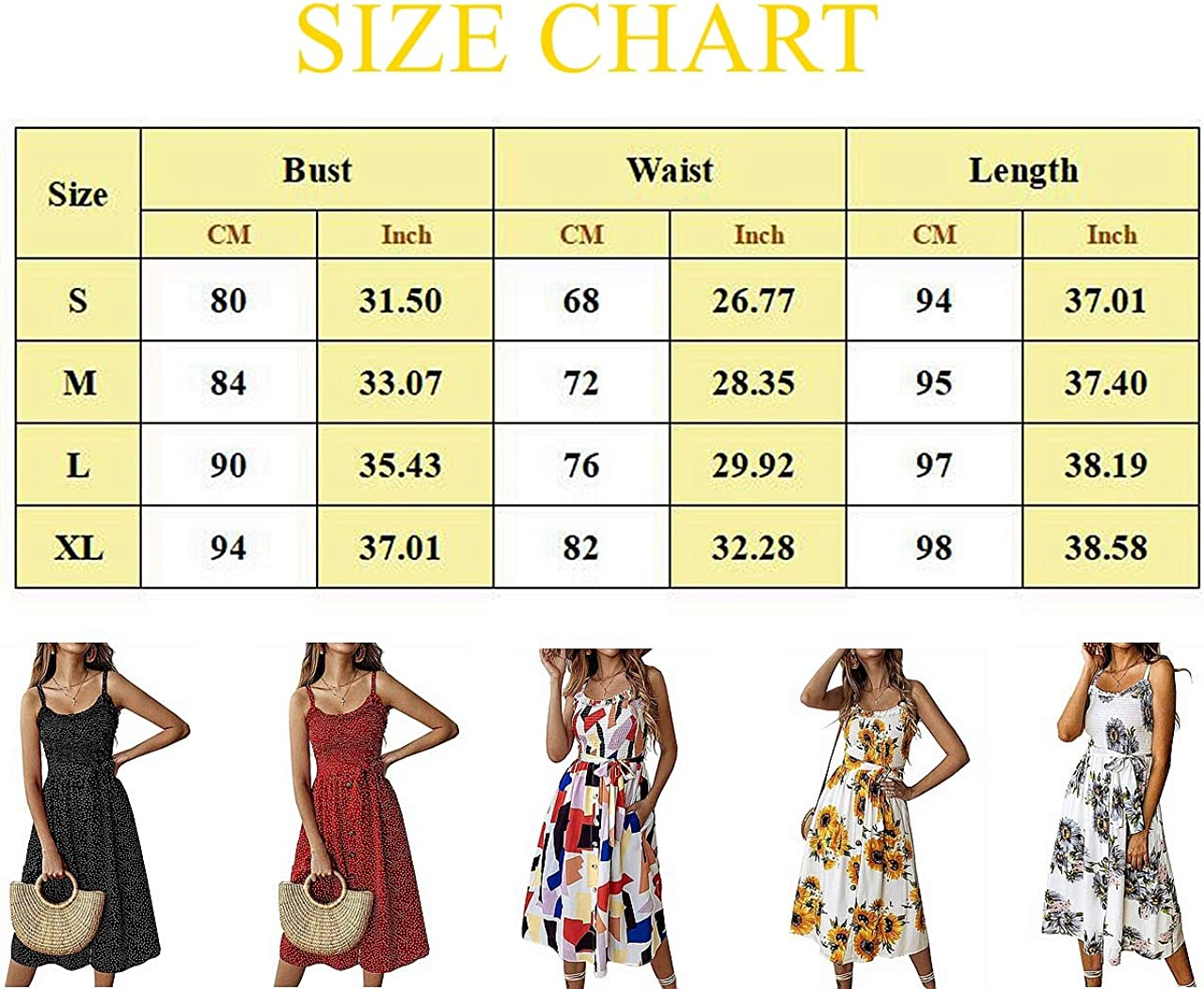 INIBUD Summer Midi Dresses for Women Button Down Long Beach Sun Dress Floral Print Swing A-Line 2 Side Pockets with Belt