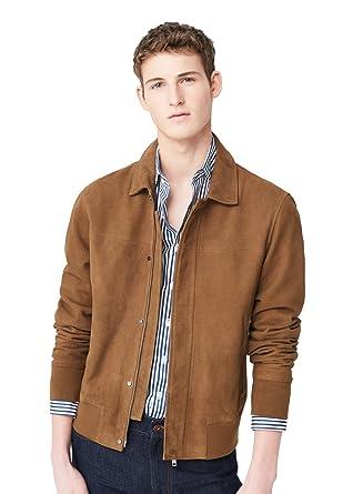good out x latest fashion on wholesale MANGO MAN - Flap-pocket suede Leather jacket - Size:XL - Color ...