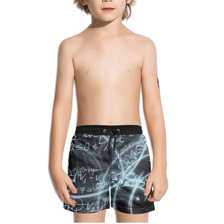 Trum Namii Boys Quick Dry Swim Trunks Math Equations Graphic Shorts