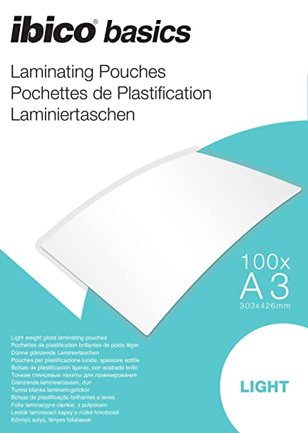 Amazon.com : Ibico Basics A3 Light Laminating Pouch (Pack of ...
