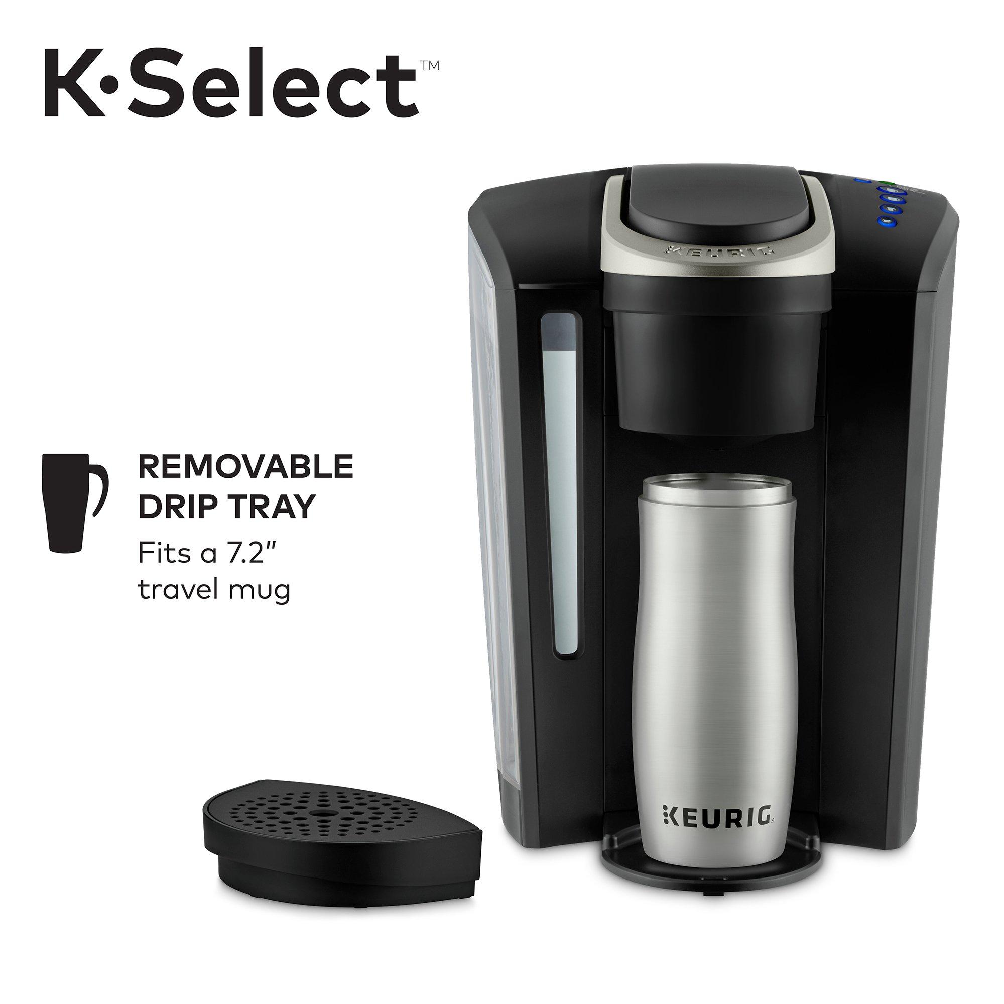 Keurig K-Select Single-Serve K-Cup Pod Coffee Maker with 12oz Brew Size, Strength Control, Matte Black by Keurig (Image #3)