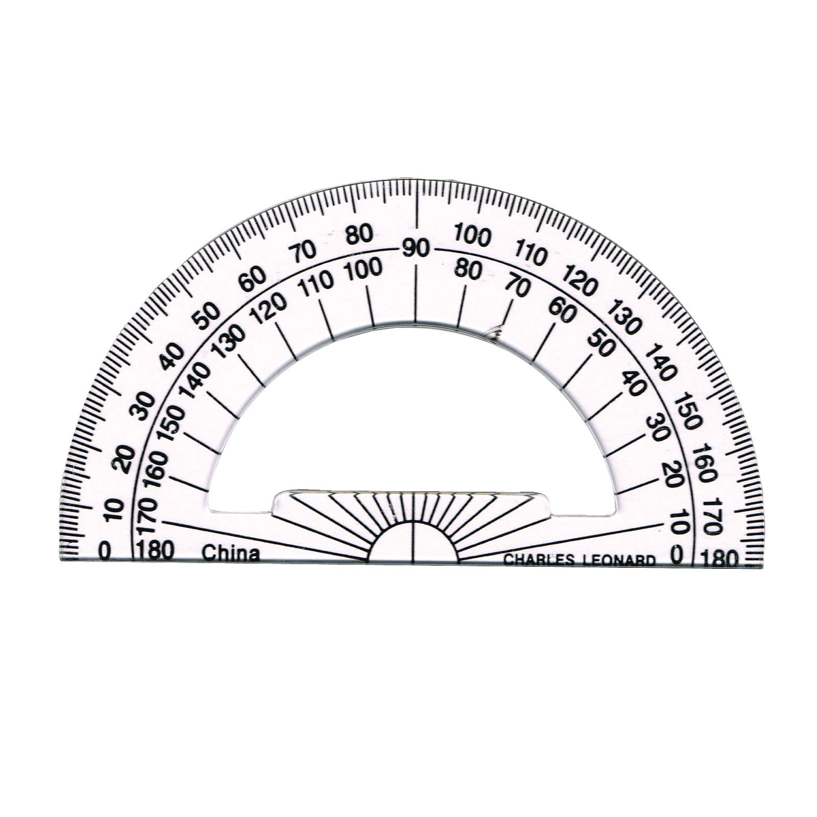 Charles Leonard CHL77104BN Plastic Protractor 4'', Pack of 84