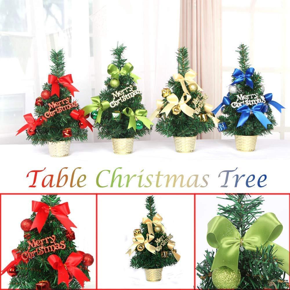 Qiusa 31cm Mini árbol de Navidad, Decoraciones para el Festival de la Mesa del Escritorio + Regalos de decoración para Fiestas Lo Mejor para la Fiesta: ...