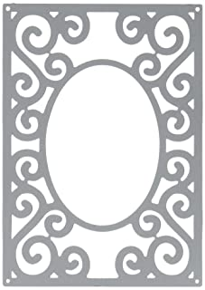 Éxtasis Crafts Lin y Lene Corte para Grabar y Plantilla de tipografía para Troquelado, con Ojales de Acero Rectangular Marco de