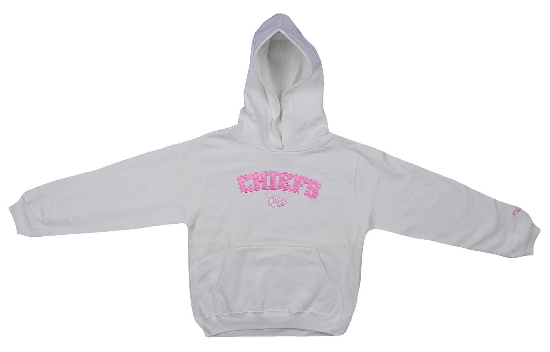 online store 9e6a8 36d7a Kansas City Chiefs NFL Youth Girls Hoodie Hooded Sweatshirt, White
