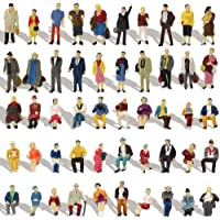 P8715 100pcs HO Scale 1:87 Seated and Standing People Assorted Figures Passengers New Desktop Decoration
