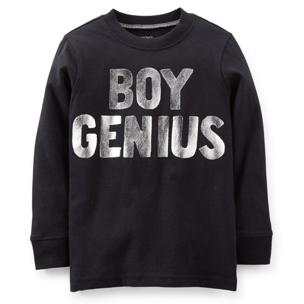 Carters Boys L//S BOY GENIUS Black T-Shirt