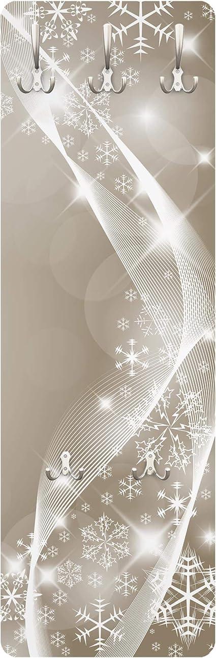 Bilderwelten Appendiabiti/-/Modello con Fiocchi di Neve 139/x 46/x 2cm/Appendiabiti da Parete
