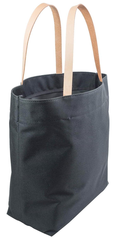Amazon.com  Large Leather Strap Black Tote Bag - Nylon Minimalist Handbag  with Full Grain Leather Straps - Made in USA.  Shoes 20e93afaaf44