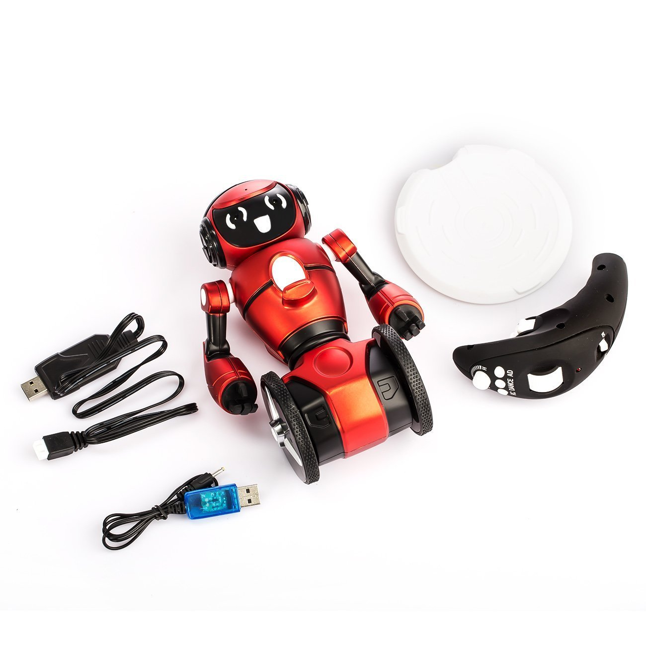 WLToys Intelligent Two Wheels Balance RC Robot Toy with Dance Music Avoidance Human-computer Interaction Mode for Children Kids as a Gift *Colors May Vary. by WLtoys (Image #4)