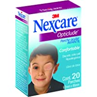 3M Nexcare Parche Ocular Opticlude Junior Caja con 20 piezas (Modelo OPTJR)