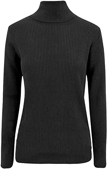 Mens Stretch New Casual Roll Turtle High Polo Neck Knitted Sweater Jumper Top