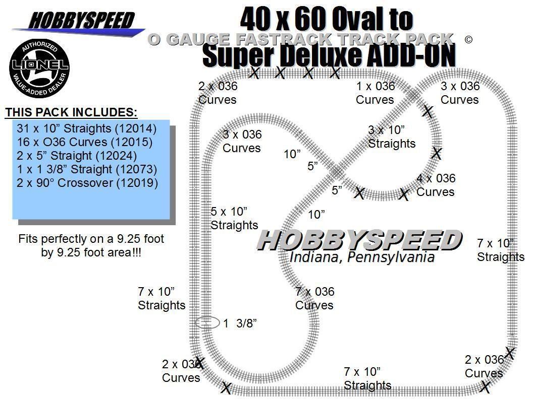 Lionel Fastrack 40x60 To A Super Deluxe Track Pack Switch Wiring Free Download Diagrams Pictures Layout Add On Toys Games