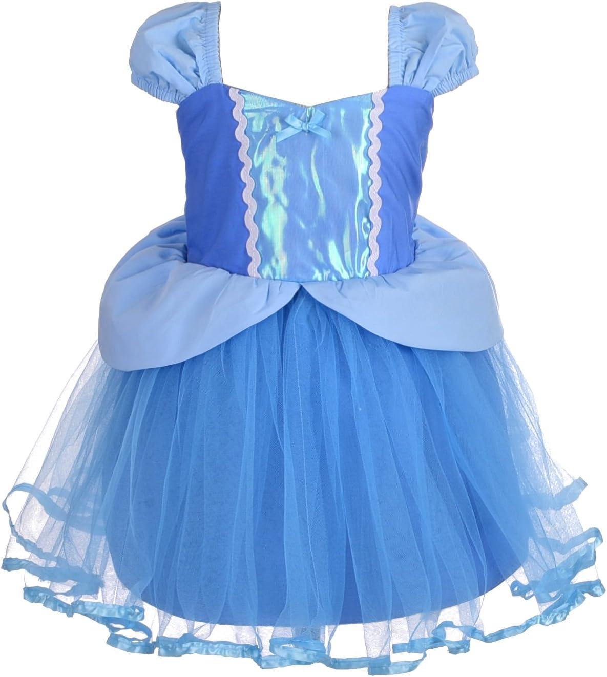 Lito Angels Princesa Cenicienta Vestir para Niñas Disfraz de Halloween Ropa Casual 3-4 años 107