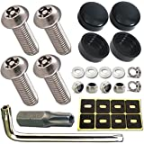 Aootf Anti Theft License Plate Screws- Rust Stainless Steel Plate Screw Resistant Security Tamper Resistant MachineLicense P