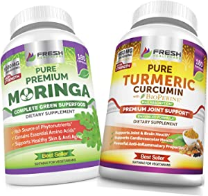 Moringa and Turmeric Curcumin - Bundle
