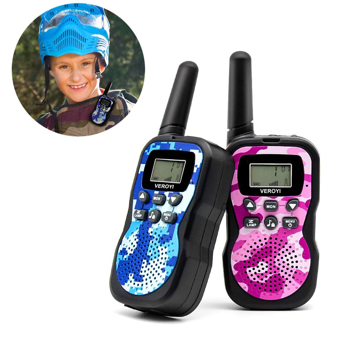 Pussan Fun Toys for 5-10 Year Old Girls Kids Walkie Talkies, 2 Miles Long Distance Walkie Talkies, Outdoor Games, Camping Gear Birthday Gift for Boys and Adlut