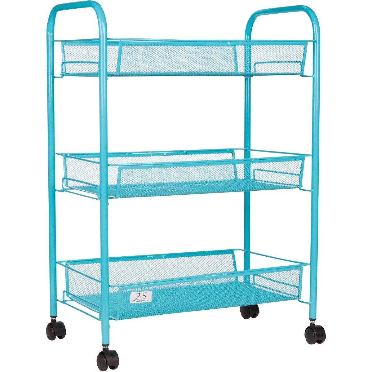 Amazon.com : 3 Tier Utility Cart, Kitchen Storage with Rolling Wheel ...