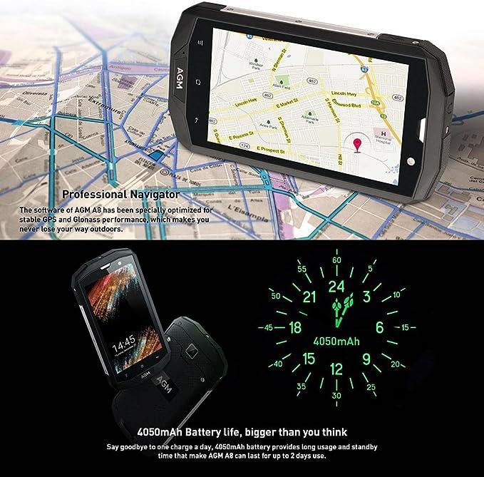 iPenty Handy AGM A8Se Smartphone IP68 Resistente al Agua Funda 5,0 ...