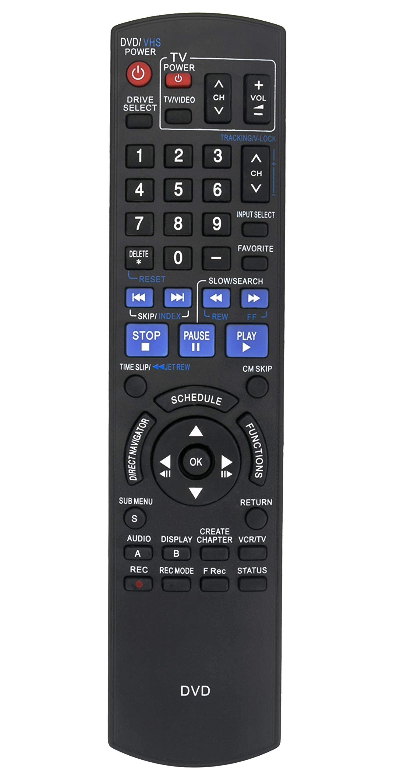 Control Remoto N2QAYB000197 Panasonic DVD Recorder DMR EZ...