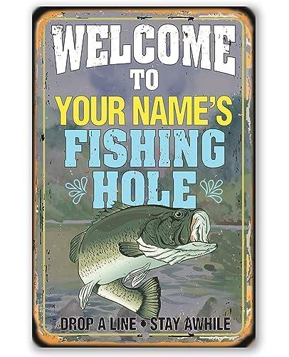 Aluminum Funny Fishing Sign Fisherman Metal Wall Decor Fishing Humor Gift