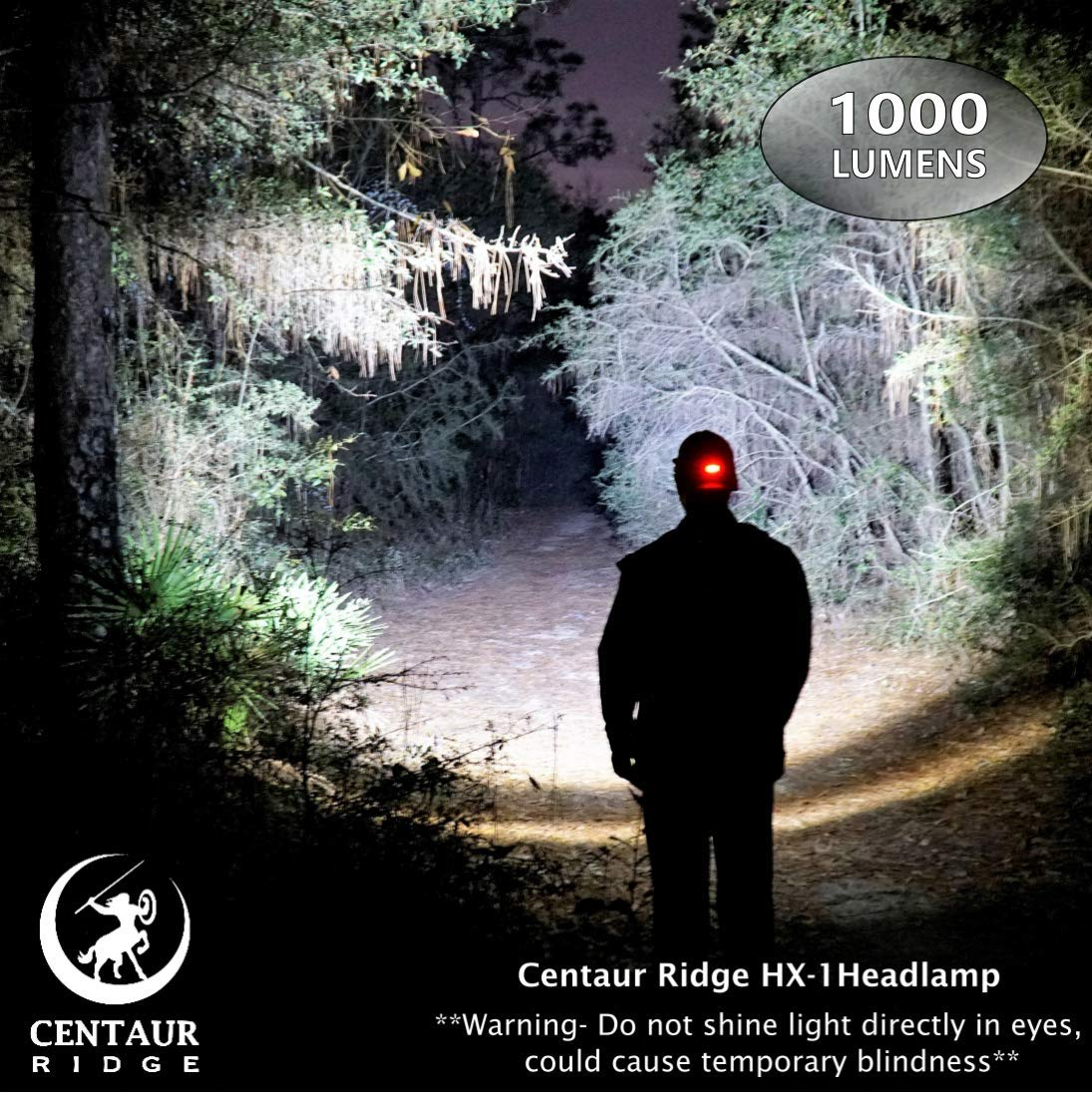 Centaur Ridge Headlamp - Xtreme Bright, 1000 Lumen CREE LED, Zoomable, USB Rechargeable | Best Flashlight for Camping, Hiking, Running, Work by Centaur Ridge (Image #7)