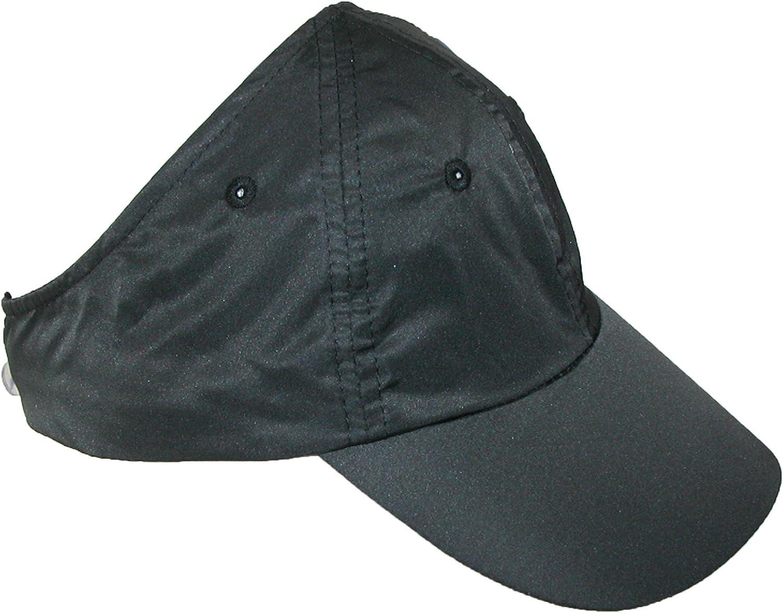CTM Women's Microfiber Sport Ponytail Hair Holder Baseball Hat