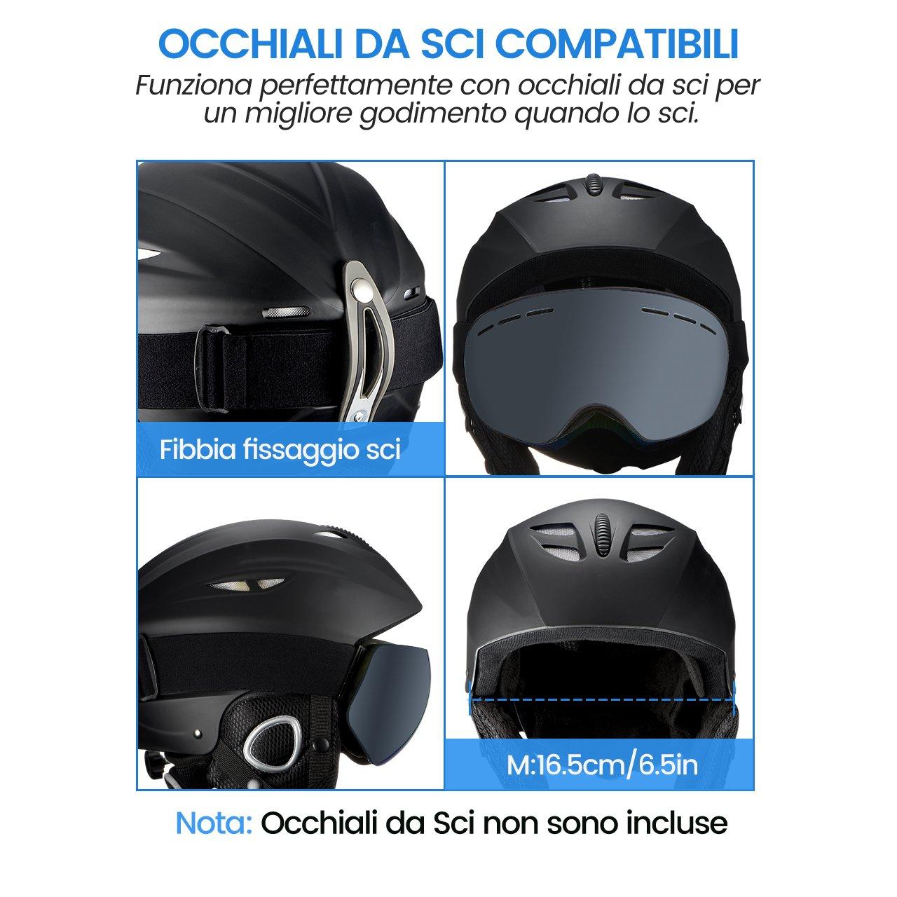 Velvet Earmuff and Lining Unisex OMORC Ski Helmet ABS /& EPS Material Snowboard Helmet Controllable Ventilation