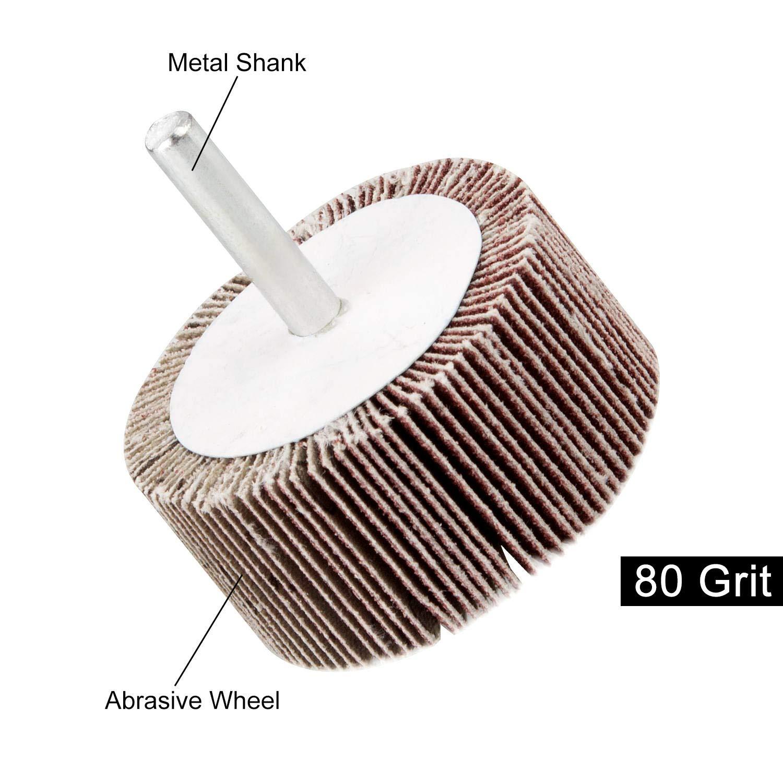 Deburring 2 x 1 x 1//4 inch Shank Mounted Flap Wheels 80 Grit Aluminum Oxide Abrasive Flap Grinding Wheels by STARVAST for Removing Rust 5 Pack Sanding Flap Wheel Grinding Polishing Flat